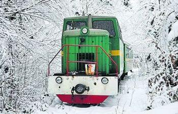 Карпатський трамвай зимою